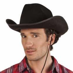Zwarte cowboyhoed rodeo vilt feest volwassenen