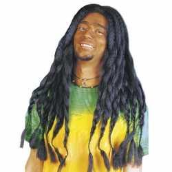 Zwarte hippiepruik dreads