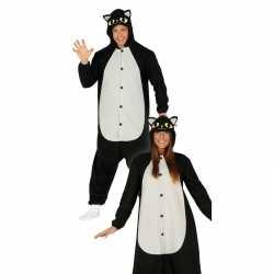 Zwarte kat/poes dieren verkleedpak feest dames