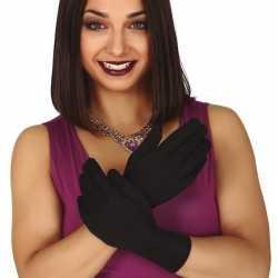 Zwarte korte verkleed handschoenen feest volwassenen