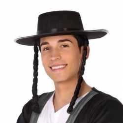 Zwarte orthodoxe jood verkleed hoed feest heren