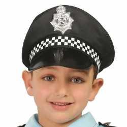 Zwarte politiepet feest kinderen