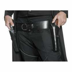 Zwarte riem pistool houders