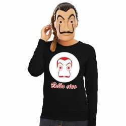 Zwarte salvador dali sweater la casa de papel masker dames