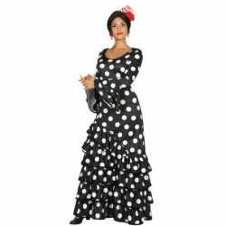 Zwarte spaanse verkleedkleding jurk