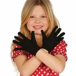Zwarte verkleed handschoenen feest kinderen
