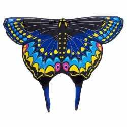 Zwarte zwaluwstaartvlinder vleugels feest kids